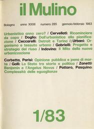 Copertina del fascicolo dell'articolo Dall'urbanistica (e l'architettura) alla pianificazione organica (senza ritorno)
