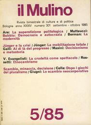Copertina del fascicolo dell'articolo Etnocentrismo