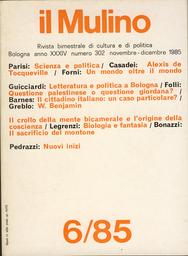 Copertina del fascicolo dell'articolo Religione e filosofia della storia in A. de Tocqueville