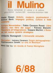 Copertina del fascicolo dell'articolo Libro Bianco, non libro dei sogni