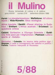 Copertina del fascicolo dell'articolo Felicità in bilico. Todorov interprete di Rousseau