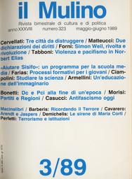 Copertina del fascicolo dell'articolo Dc e Pci alla fine di un'epoca