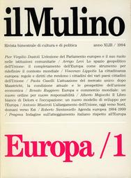 Copertina del fascicolo dell'articolo Il ruolo di Strasburgo nelle istituzioni europee