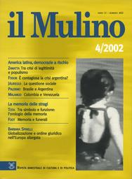 Copertina del fascicolo dell'articolo La questione sociale in America Latina