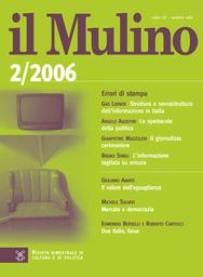 Copertina del fascicolo dell'articolo Due Italie, forse. A proposito delle elezioni del 9-10 aprile