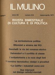 Copertina del fascicolo dell'articolo La contestazione politica