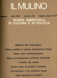 Copertina del fascicolo dell'articolo Questione cattolica e referendum: l'inizio di una fine