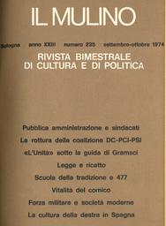 Copertina del fascicolo dell'articolo Il nodo politico dell'amministrazione pubblica e i sindacati