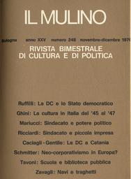 Copertina del fascicolo dell'articolo La cultura in Italia nel secondo dopoguerra (1945-1947)