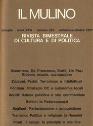 Copertina del fascicolo dell'articolo La politica e l'estetica: dal Movimento del '68 ai movimenti del