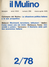 Copertina del fascicolo dell'articolo Appunti su movimenti, terrorismo, società italiana