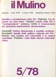 Copertina del fascicolo dell'articolo I nodi della riforma della RAI-TV