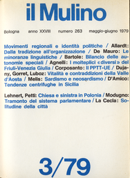 Copertina del fascicolo dell'articolo Dal sardismo al neosardismo: crisi autonomistica e mitologia locale