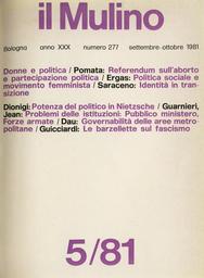 Copertina del fascicolo dell'articolo Ex voto. I risultati dei referendum sull'aborto e la partecipazione politica delle donne